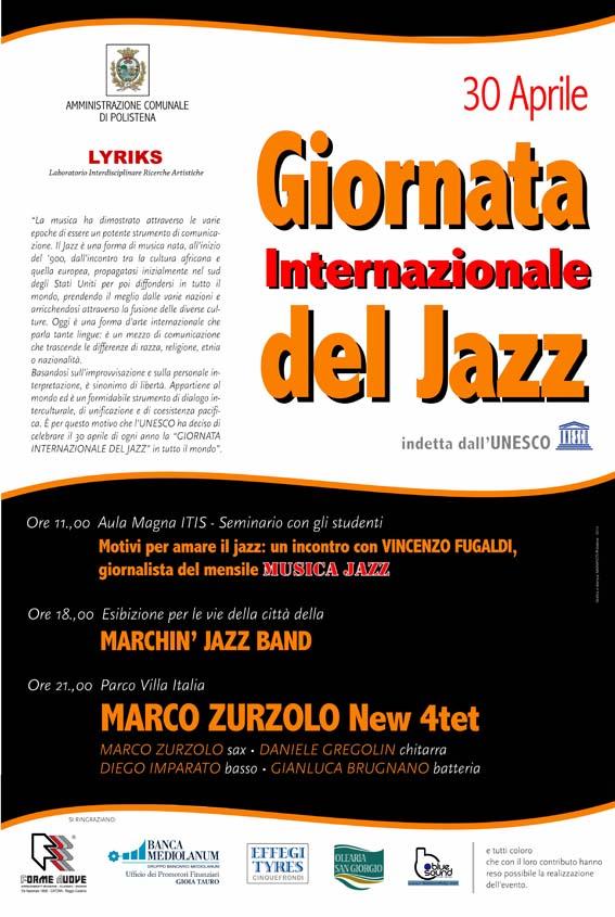 Manifesto Giornata Int. Jazz Polistena 2014 Lyriks